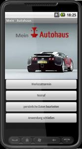 Ansicht der Service-App